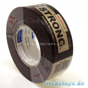 Duct Tape Gold - 50 meterx48mm Industriell lerretstape, heavy duty, 265 my